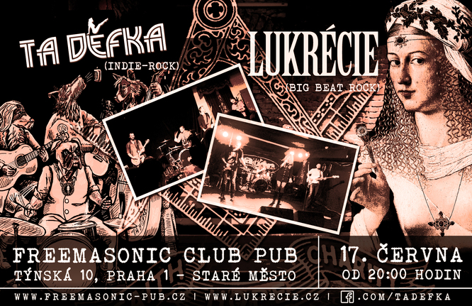 Lukrecie Ta Děfka ve FreeMasonic club pub